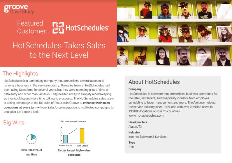 HotSchedualers | Groove Blog