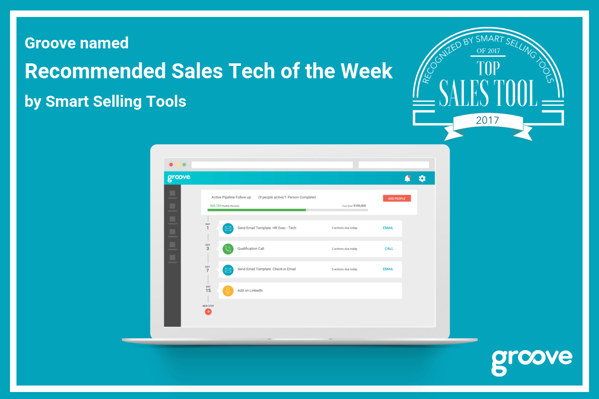 Groove named Recommended Sales Tech of the Week by Smart Selling Tools