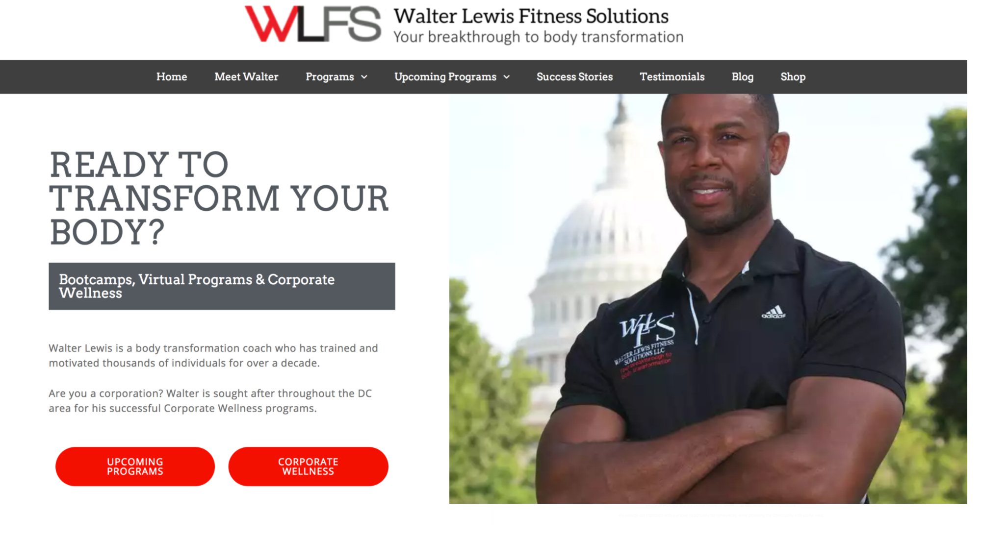 Personal Trainer - Website Redesign, Development & Management