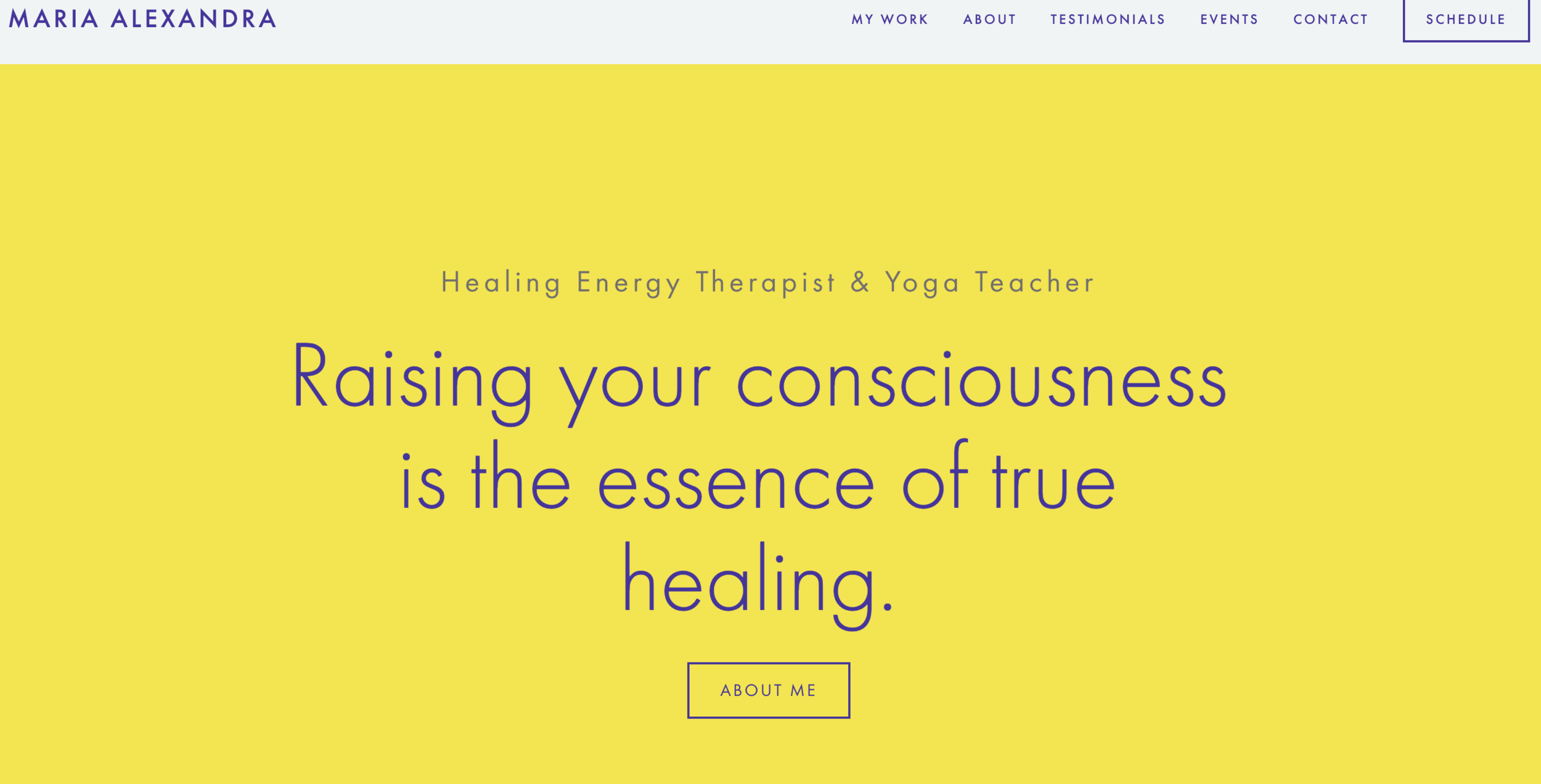 Energy Therapist & Yoga Teacher - Website design & development, Marketing strategy, Content Marketing