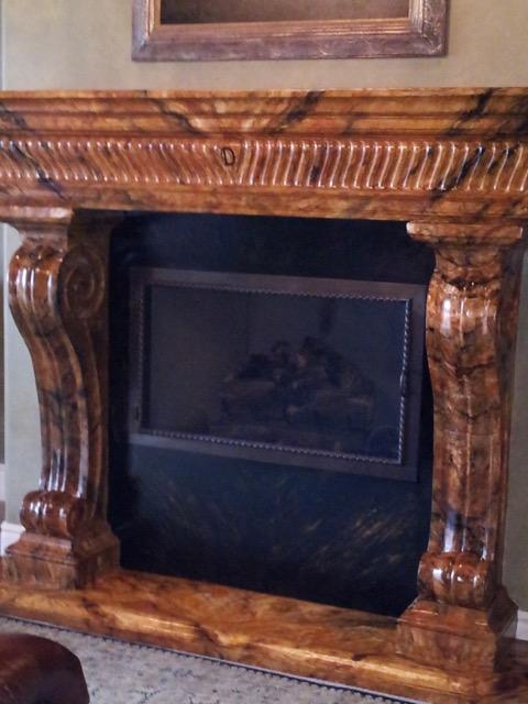 Fireplace Mantel Mural by Jennifer Chapman