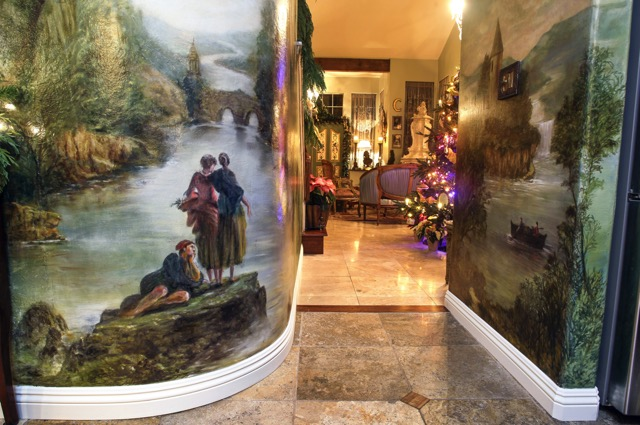 Hallway mural sets the tone for any entrance