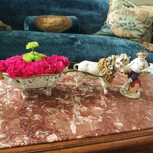 Child & Steer Vase Holiday Design by Jennifer Chapman