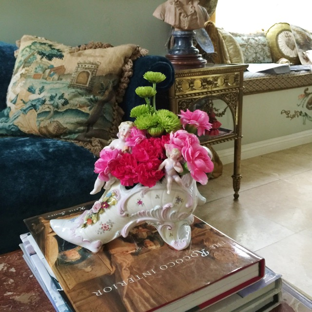 Shoe Shaped Vase Holiday Design by Jennifer Chapman