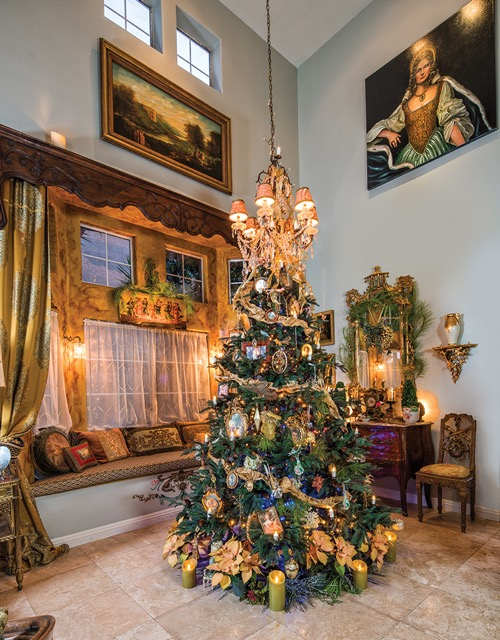Wide View of Christmas Tree Holiday Design by Jennifer Chapman