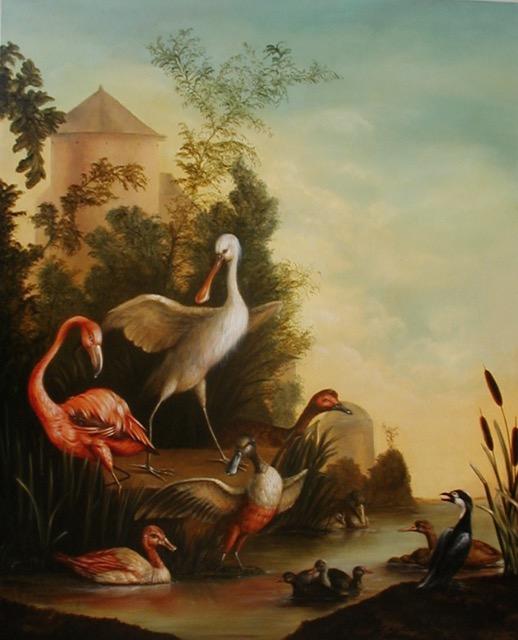 Bird Bath Painting by Jennifer Chapman