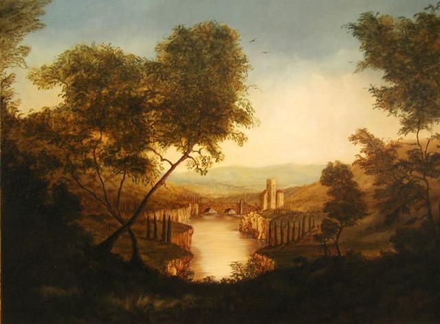 Classical Landscape Painting by Jennifer Chapman