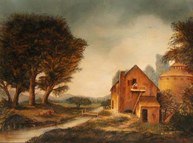 Farmhouse Painting by Jennifer Chapman