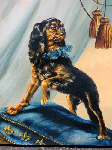 English Toy Spaniel Portrait by Jennifer Chapman