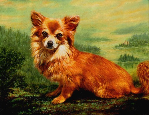 Corgi Portrait by Jennifer Chapman