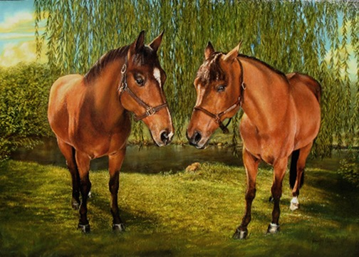 Horses Portrait by Jennifer Chapman