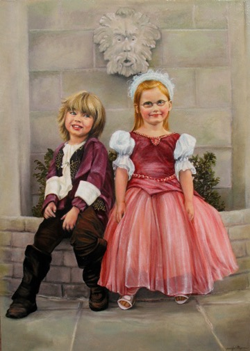 Siblings Portrait by Jennifer Chapman