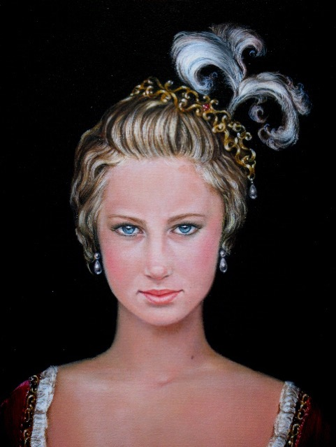 Close Up of Neoclassicism Portrait by Jennifer Chapman