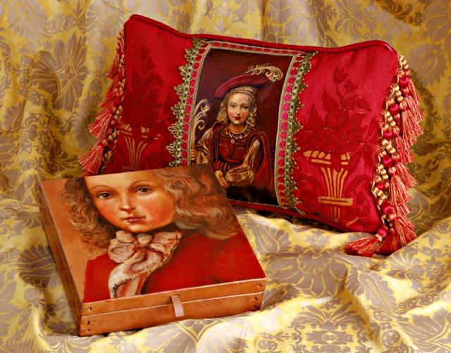 Young Boy Pillow and Box from the Masterpiece Collection by Jennifer Chapman