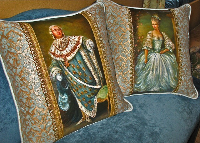 The Aristocrats 2 Pillows from the Masterpiece Collection by Jennifer Chapman