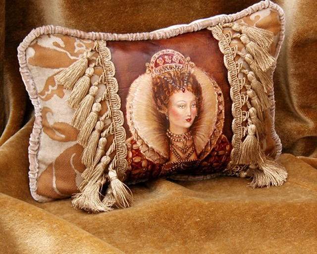 Queen Portrait Pillow from the Masterpiece Collection by Jennifer Chapman