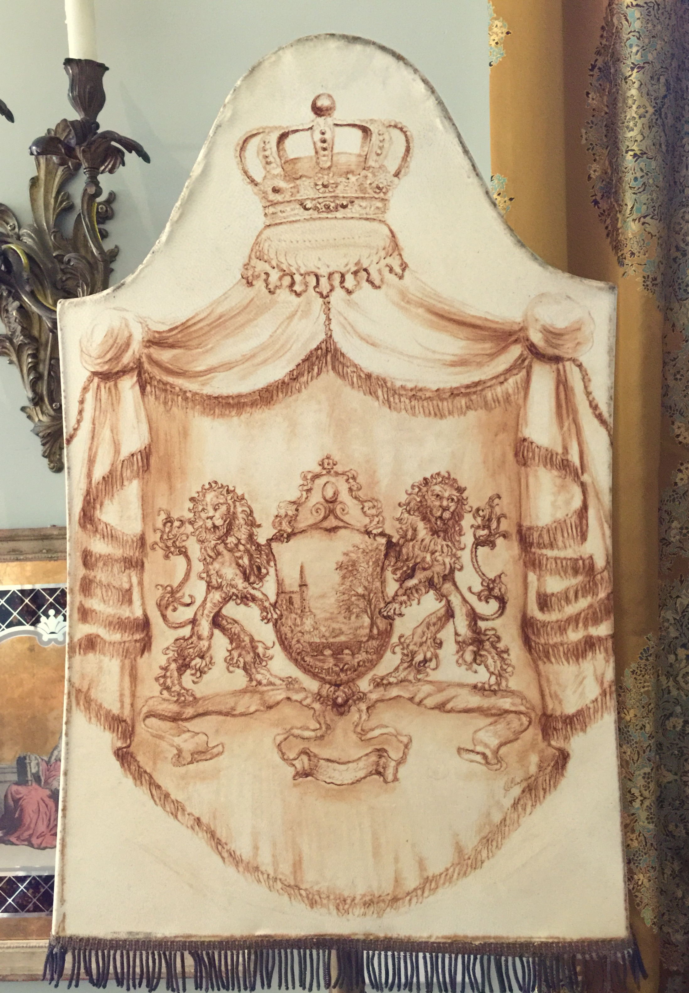 Family Crest Lampshade from the Masterpiece Collection by Jennifer Chapman