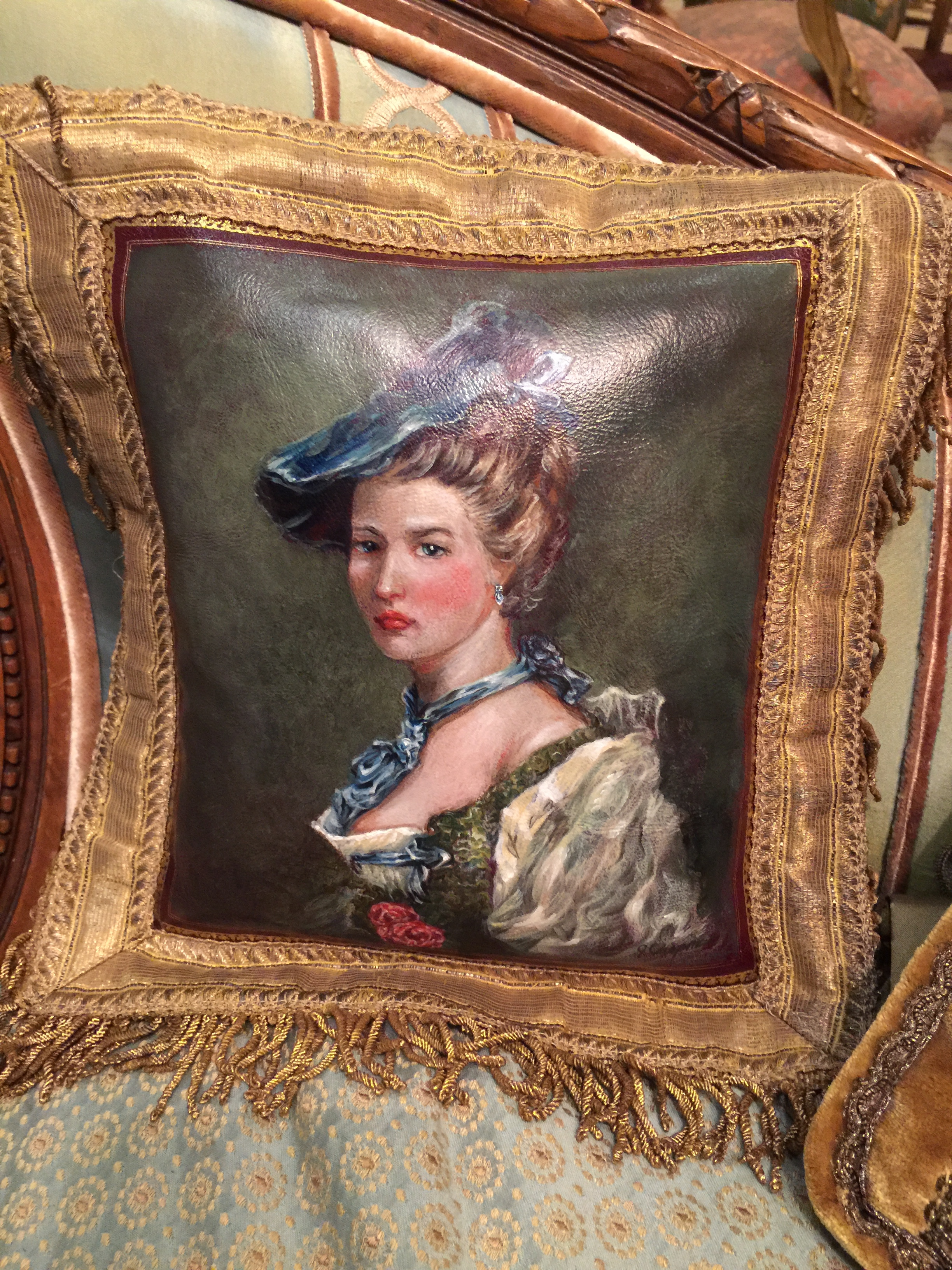 Woman's Portrait Pillow from the Masterpiece Collection by Jennifer Chapman