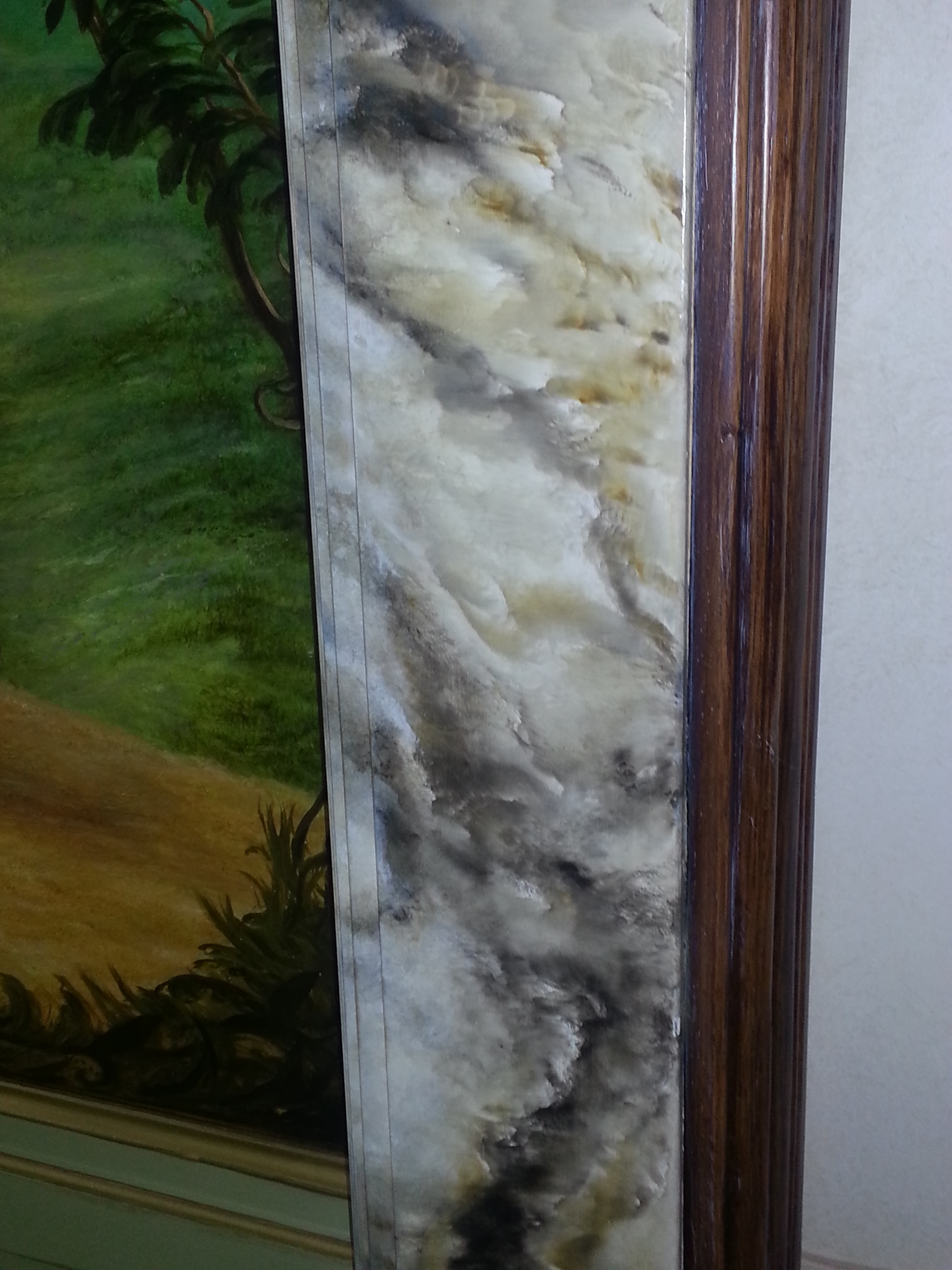Marbled Picture Frame Mural by Jennifer Chapman