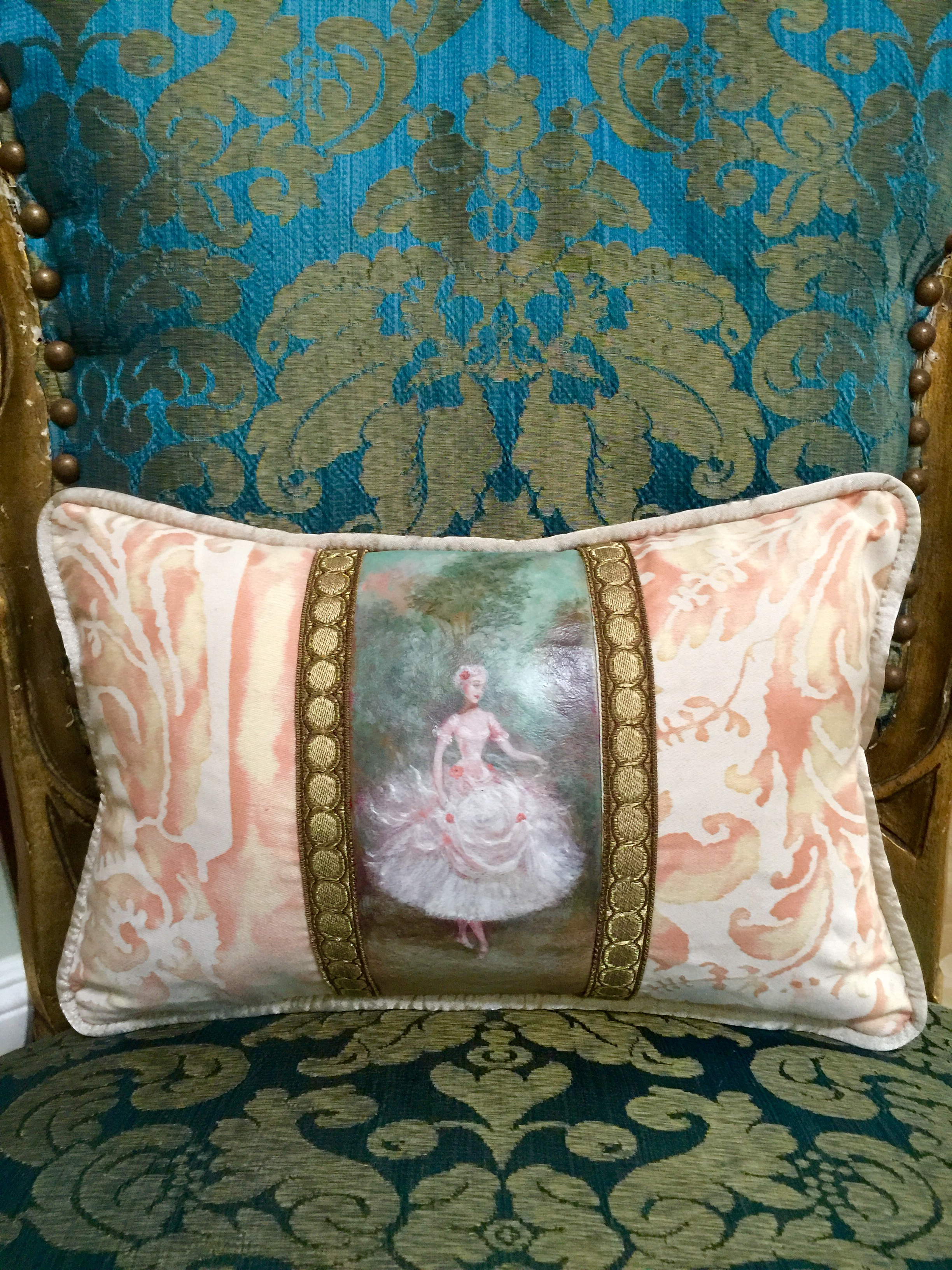 Lady in the Forest Pillow from the Masterpiece Collection by Jennifer Chapman