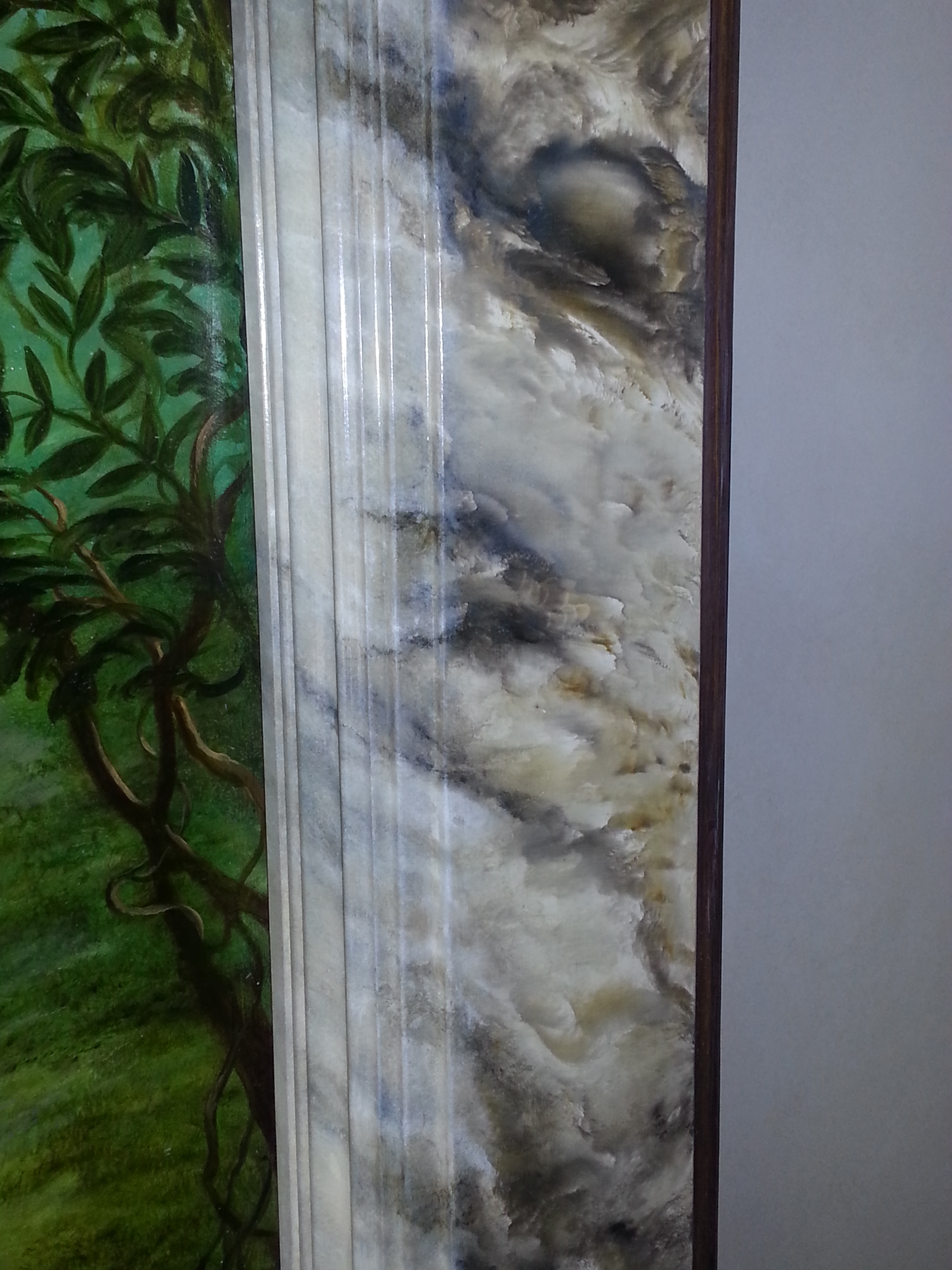 Another View of the Marbled Frame Mural by Jennifer Chapman