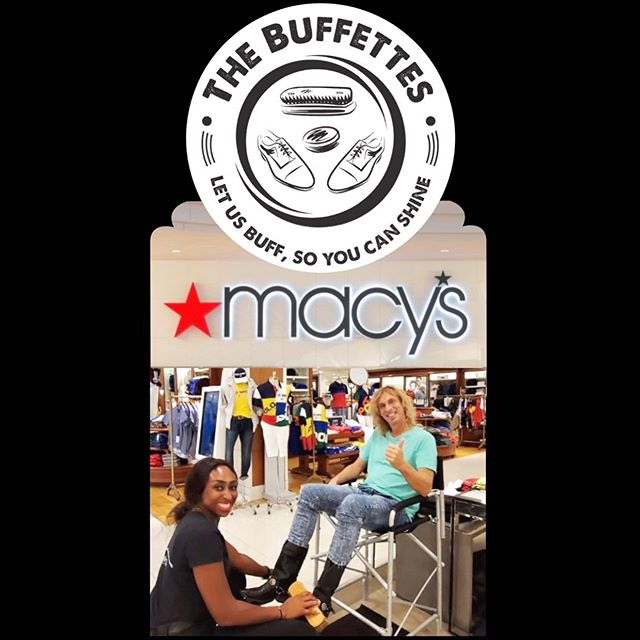@macys knows how to spoil their customers ! Complimentary shines at Macy's @galleriaftlaud !