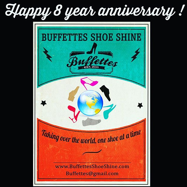 ✨✨Happy 8 year anniversary to my first baby, Buffettes Shoe Shine! Watching you grow has been so rewarding . You make me the proudest shoe shine mom!✨✨