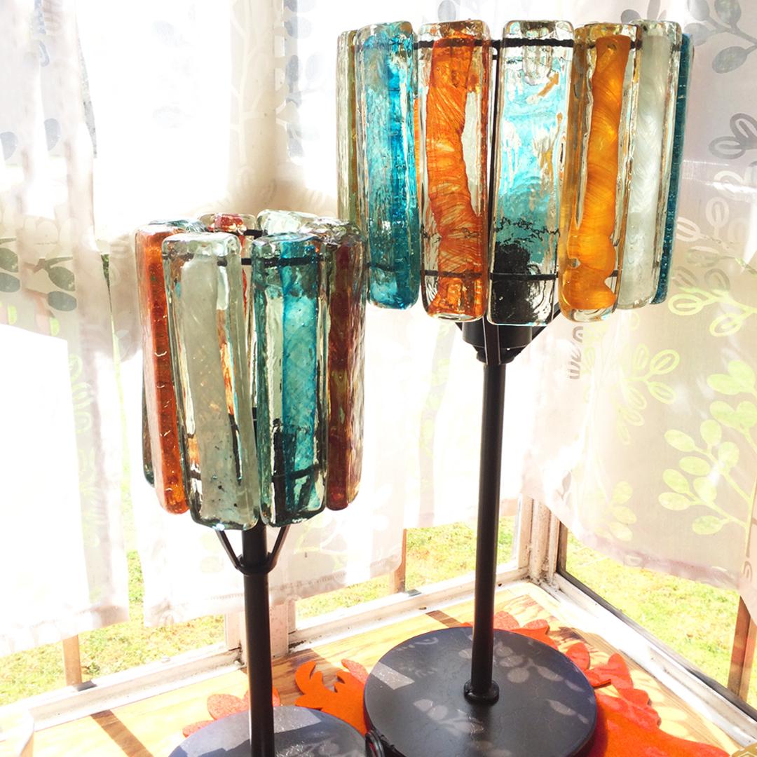 Lámparas de vidrio soplado
