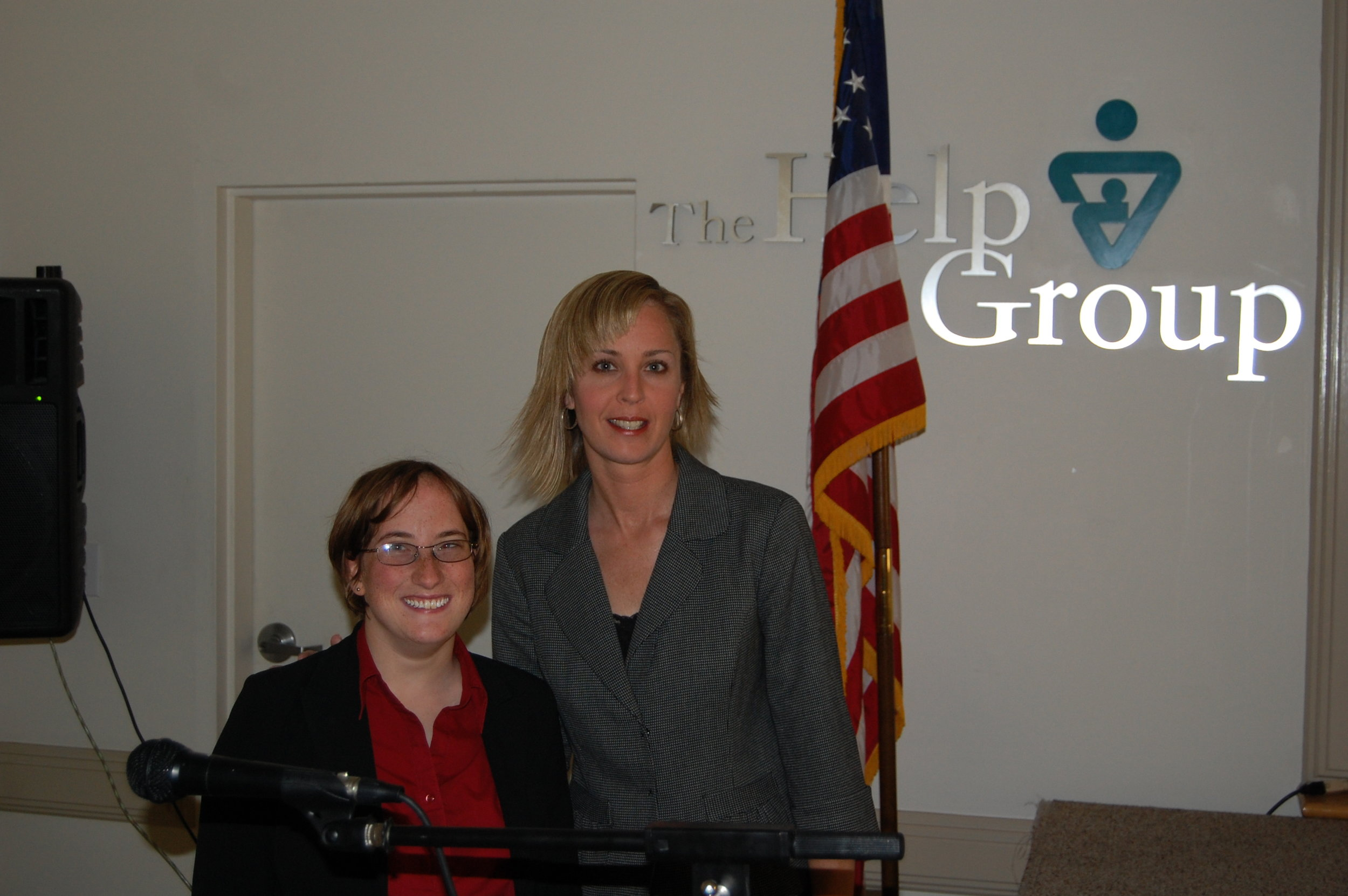 Photo of me and Dr Liz Laugeson at the help group a group of school in LA ( Sherman oaks)