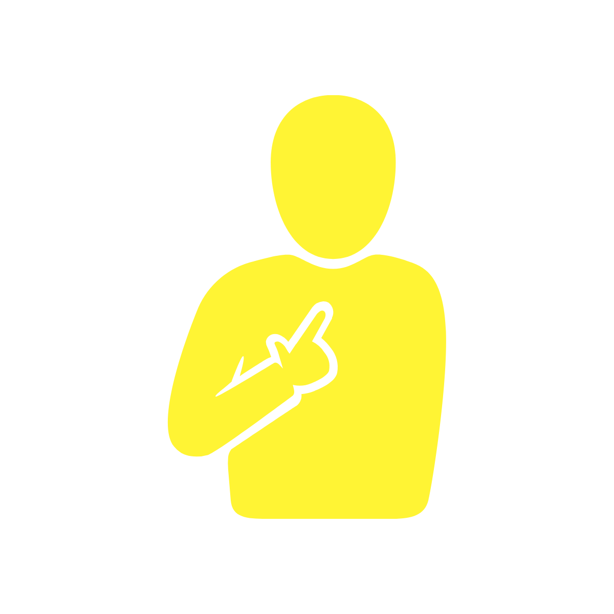 a person pointing at themselves