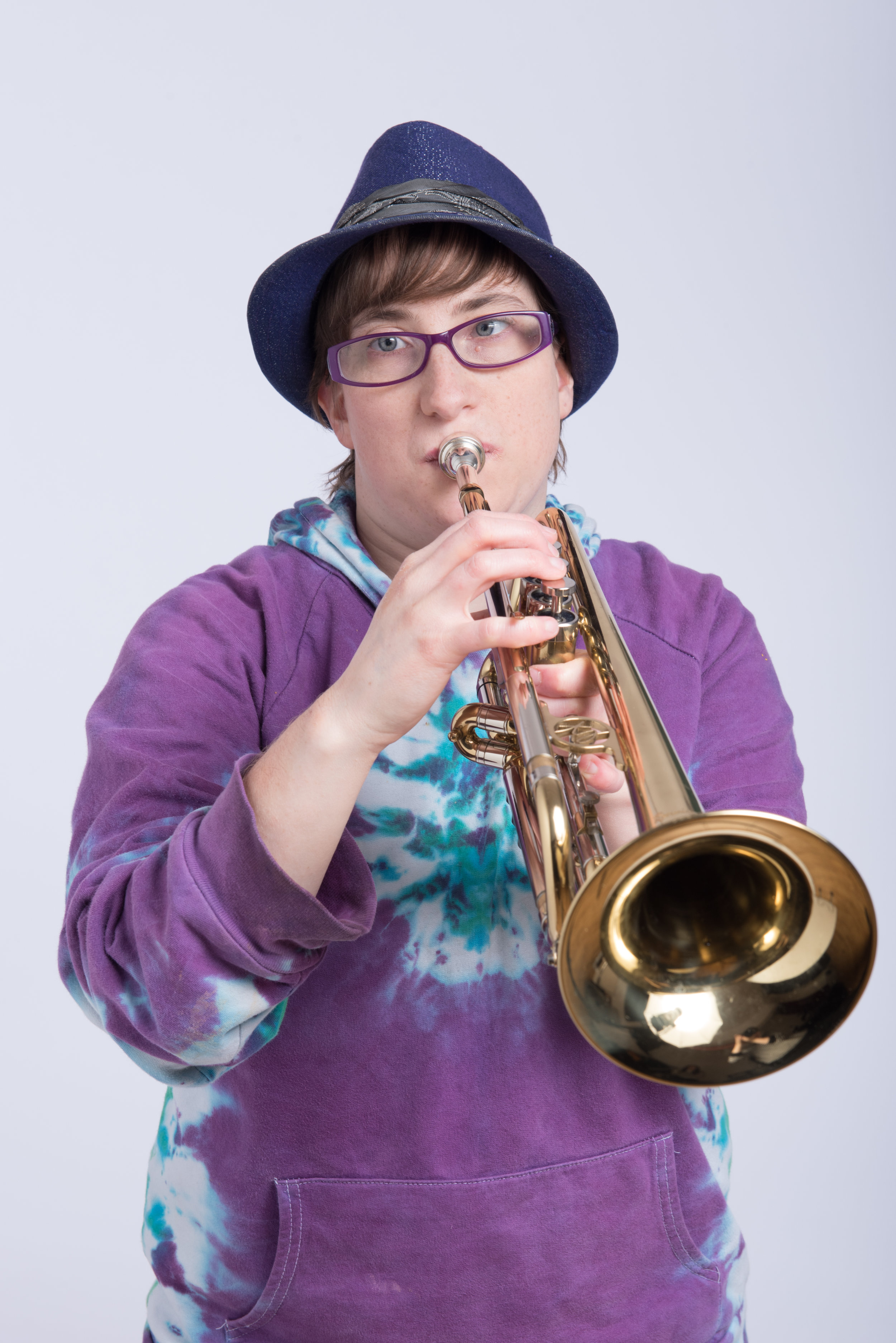 Photo of Robyn with her trumpet