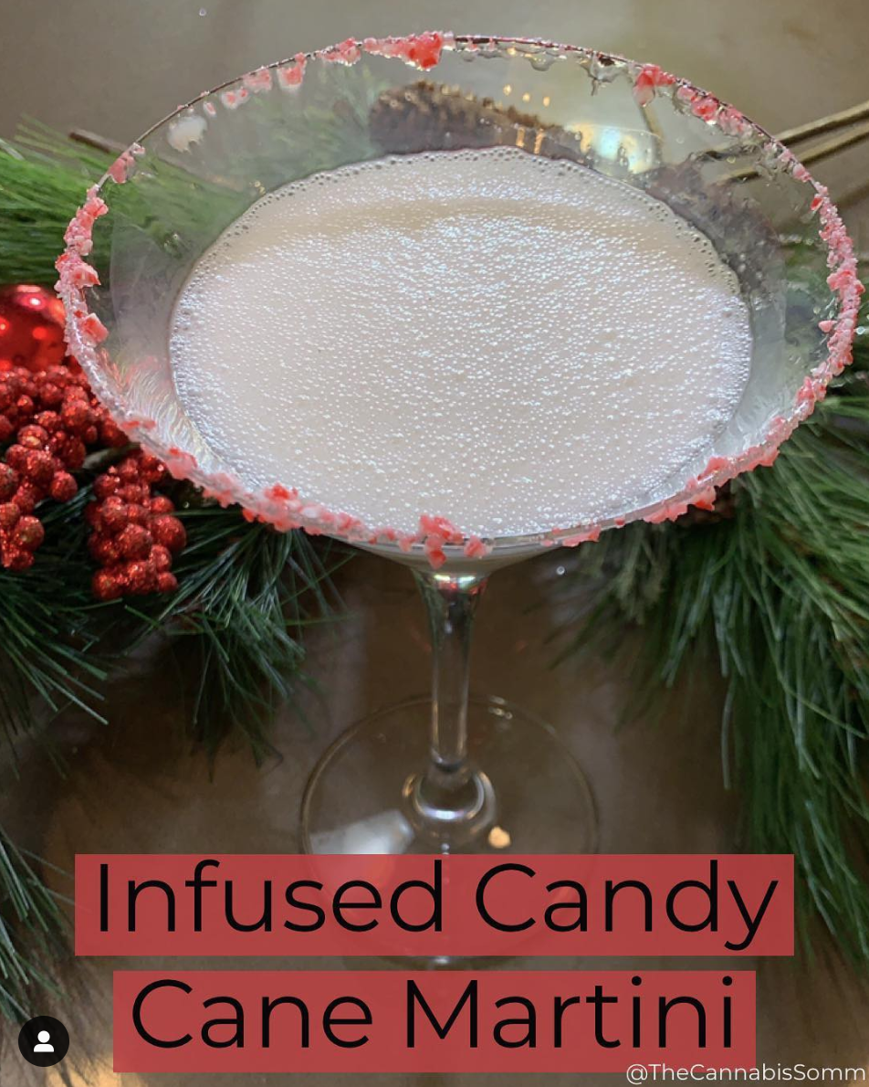 Check out this Infused Candy Cane Martini recipe by The Cannabis Sommelier!