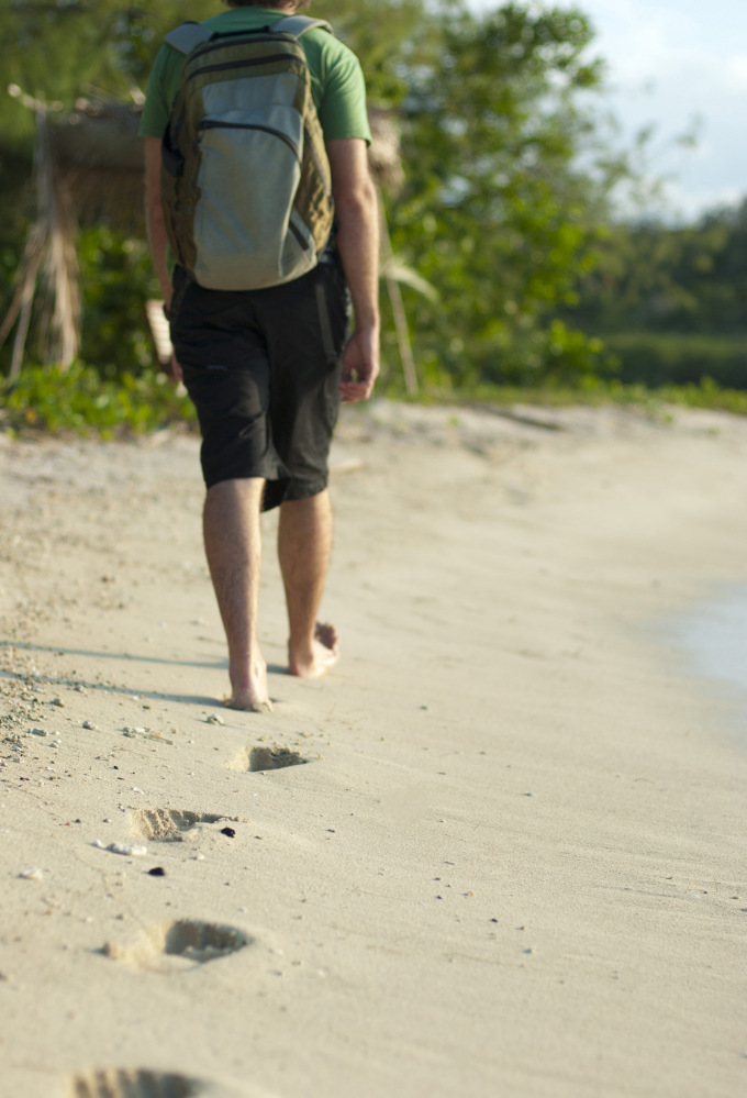 Let your footprints be the only thing left behind after your journey is over.