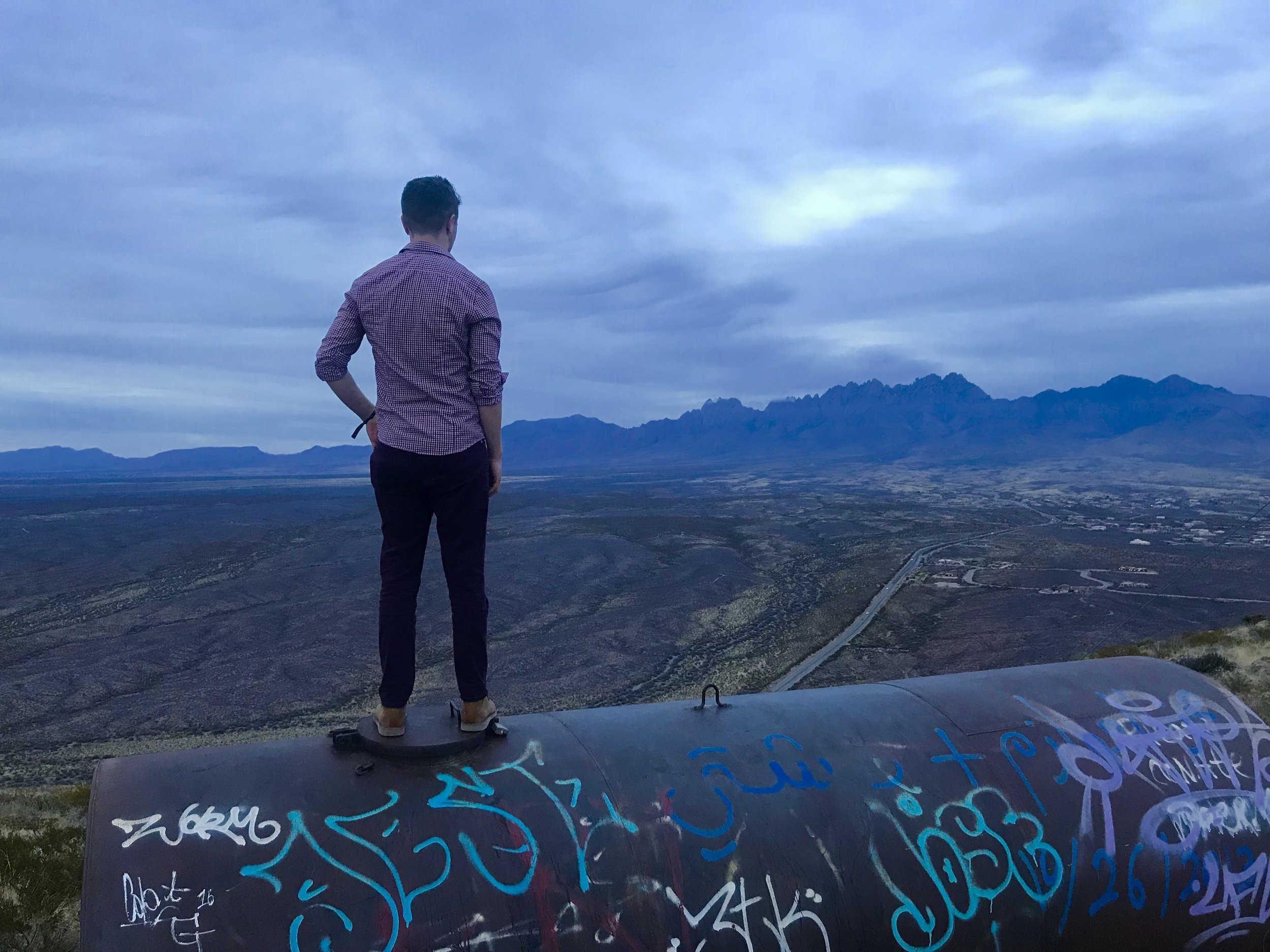Climbing the Tortugas Mountain in Las Cruces, New Mexico.