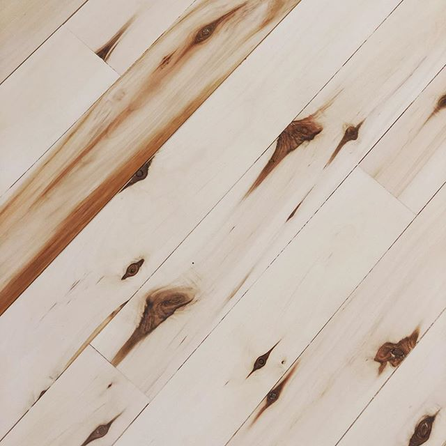 a #studio floor with nothing to prove.  Locally hand-milled aspen, treated the old-fashioned Scandinavian way with lye and oil. #noVOC, no fumes, no nonsense.