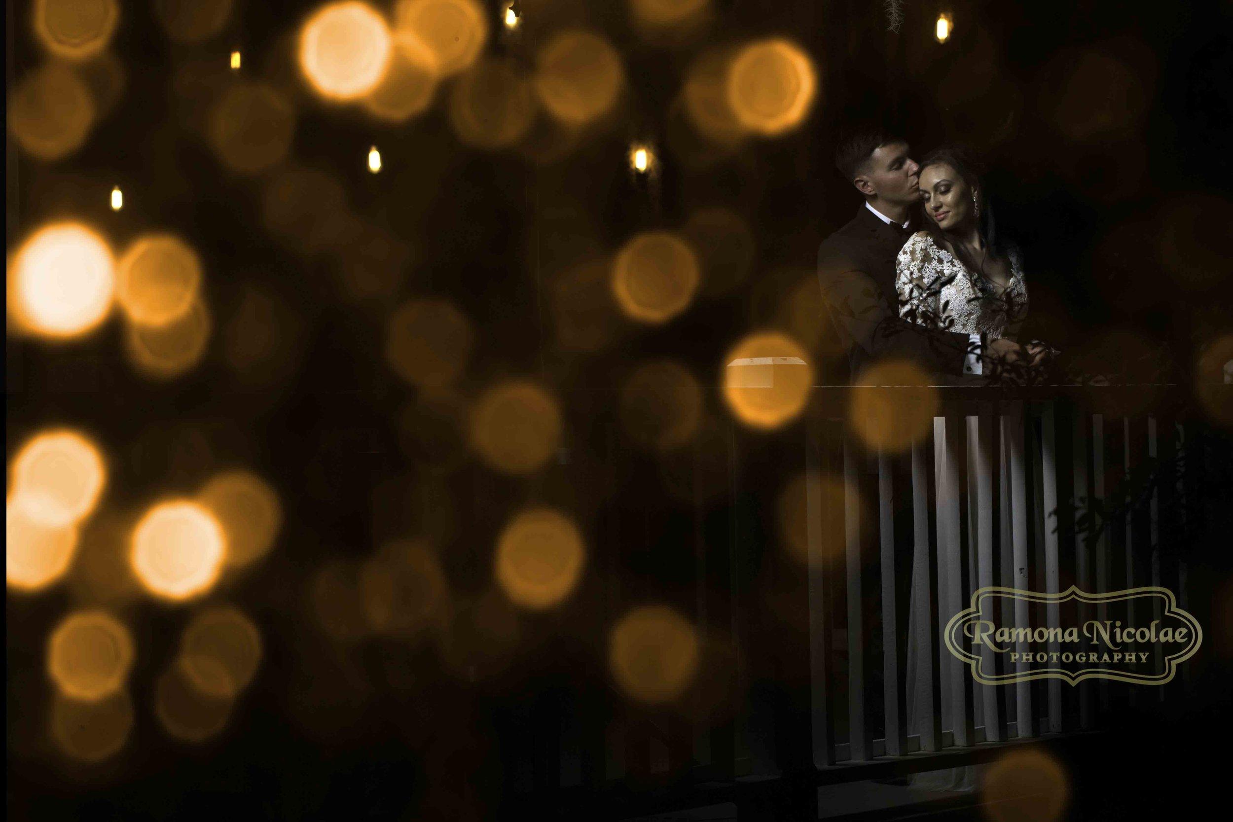 bokeh lights bridal portrait by ramona nicolae photography at wachesaw plantation weddings.jpg
