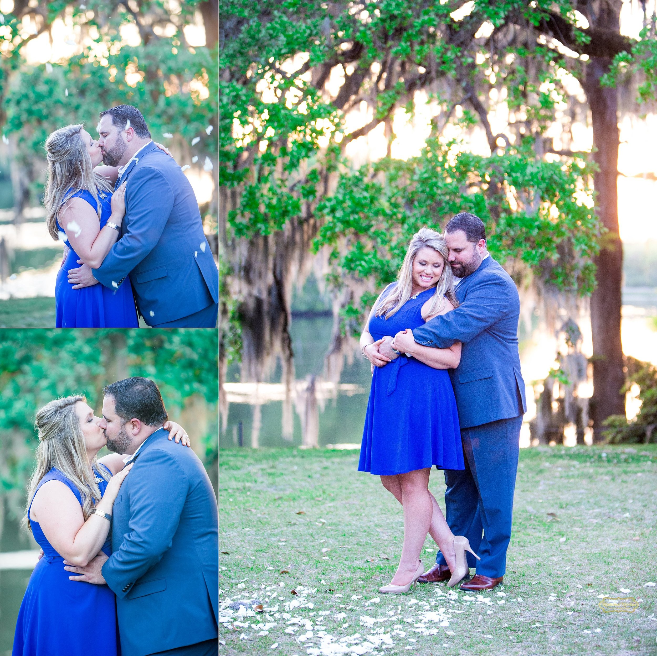 close ups of couple dressed in blue at wachesaw plantation for engagement photos.jpg