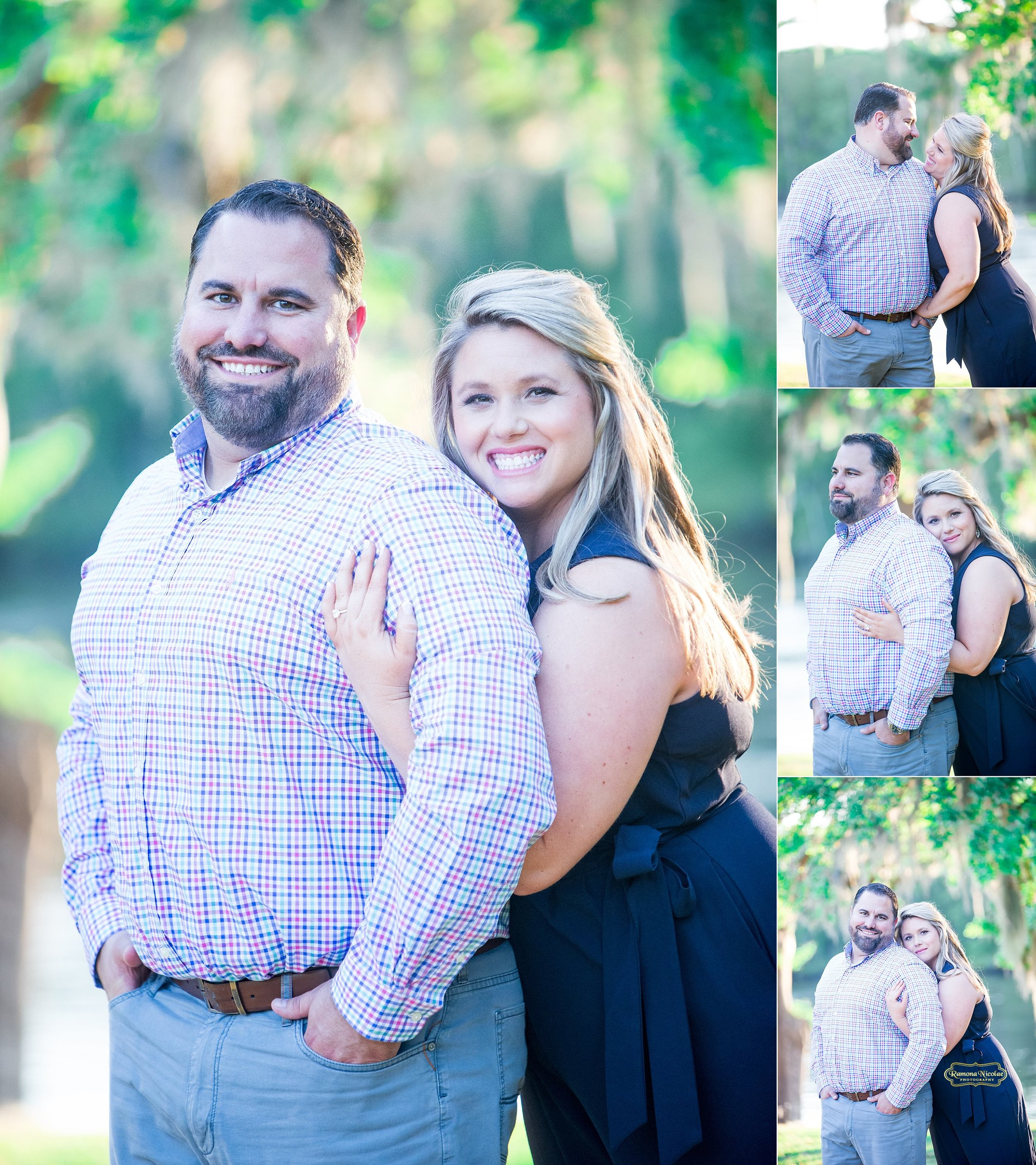 tight close hug of couple photographed by ramona nicolae in murrells inlet for engagement session.jpg