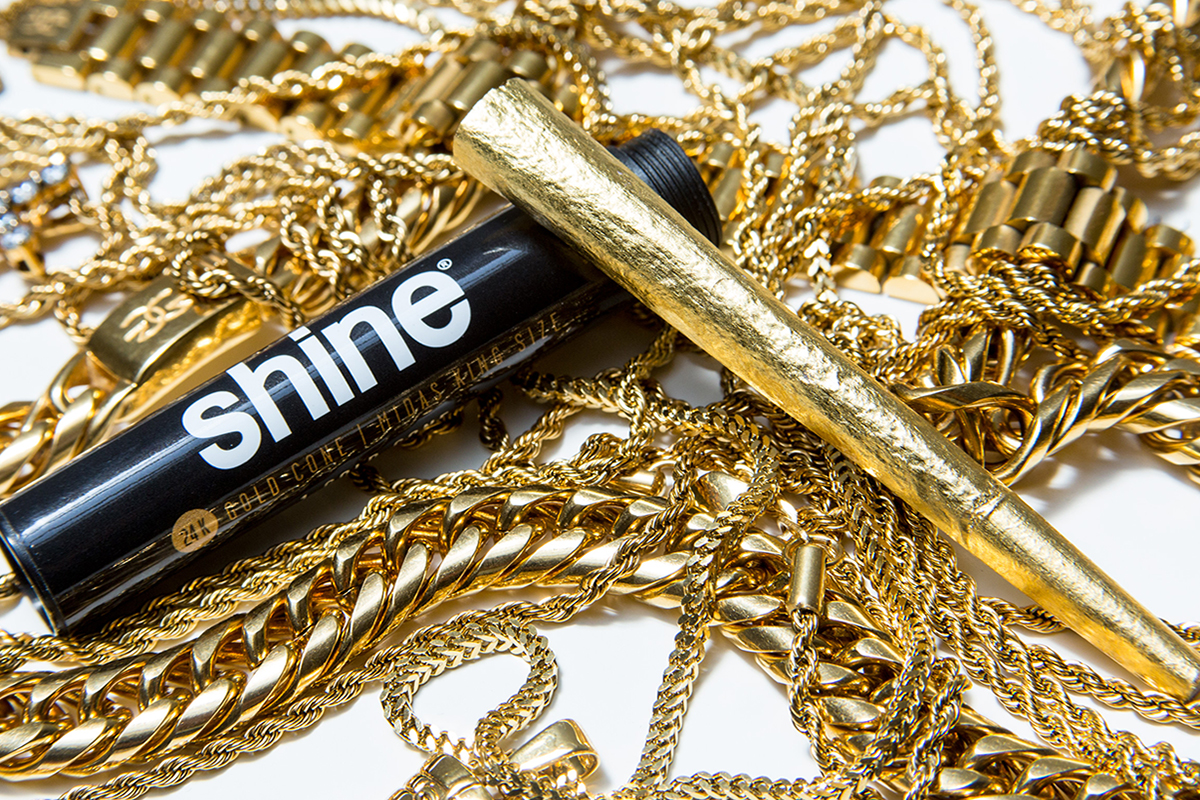 - Shine PapersShine Papers is the inventor of the worlds first ever 24 karat gold rolling paper and gained quick popularity for people who celebrate 'all of life's highs'. Shine papers burn extremely slow and are known for turning heads. PS: burning these papers leaves quite the gift in your ashtray