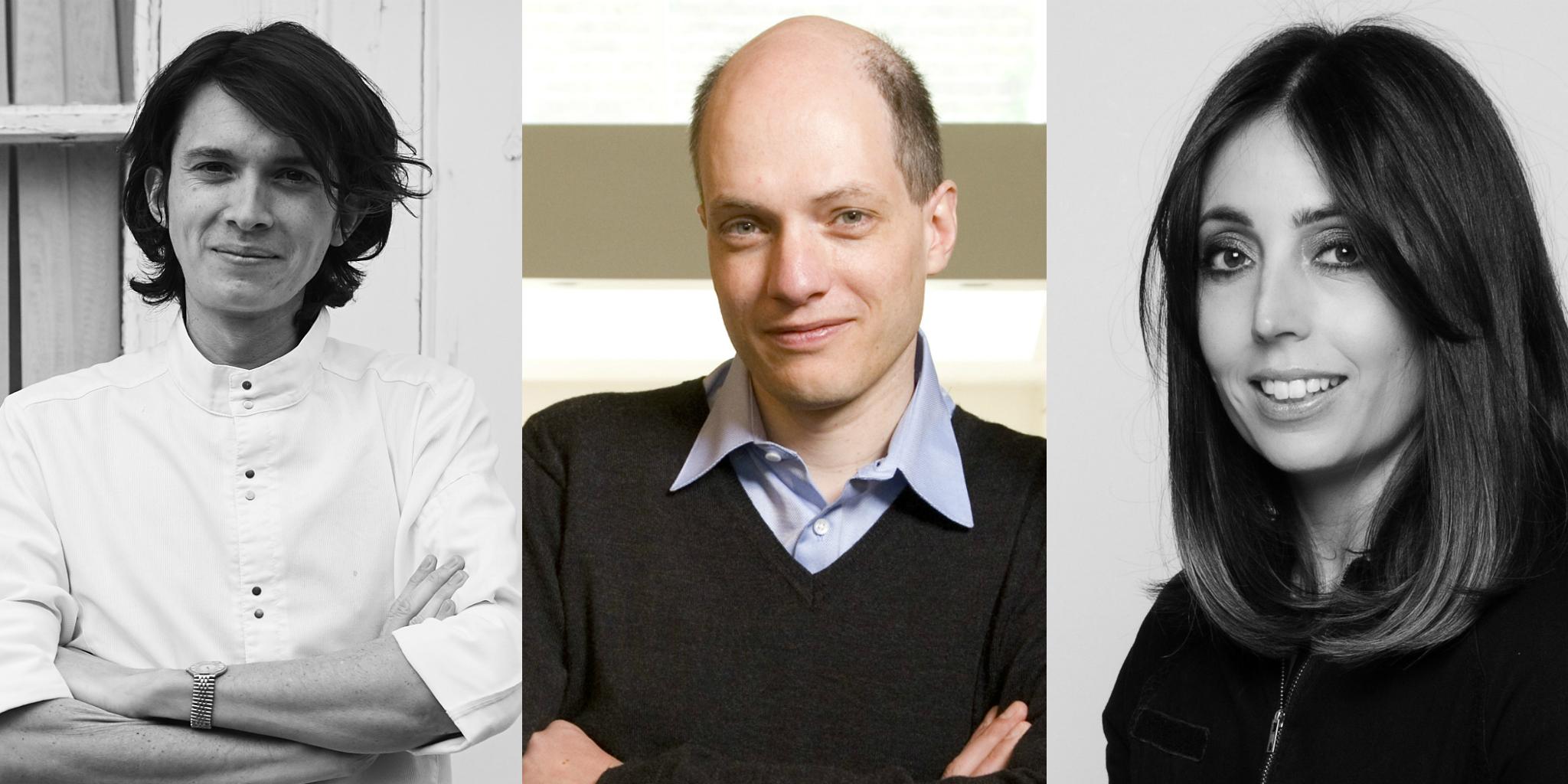 Charles Michel, Alain de Botton, and Emma Sexton