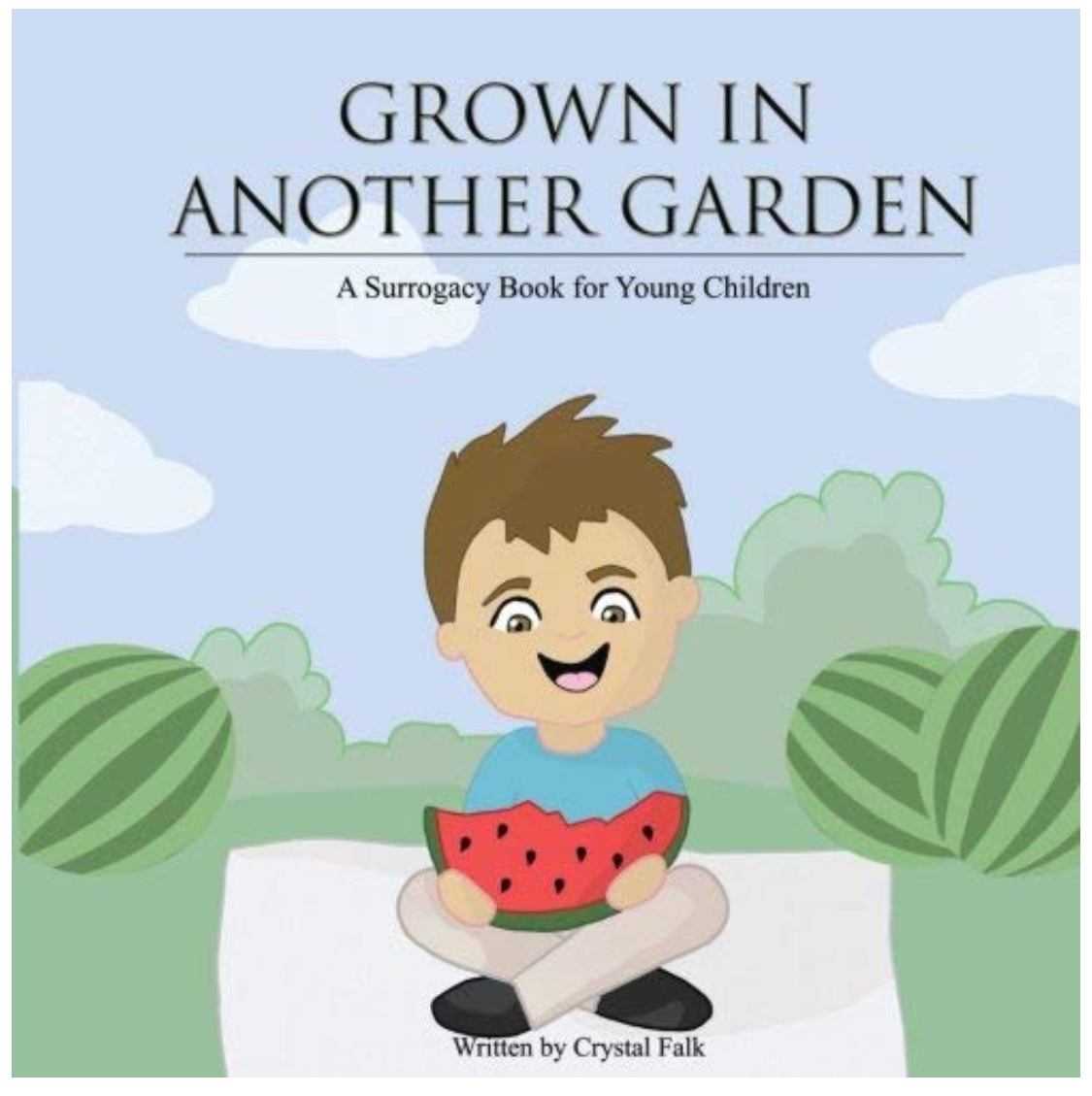 "Grown In Another Garden - Grown in Another Garden introduces young children, ages 2 years old to 8 years old, to surrogacy. Follow the story of Mikey and his family as he learns about the unique way he was born into a loving family – through the kindness of a surrogate. Join with him discovers that ""sometimes the sweetest and most beautiful creations are grown in another garden."" Mikey's story helps to explain why some families choose surrogates to help grow their families and why surrogates choose to help other families that way."