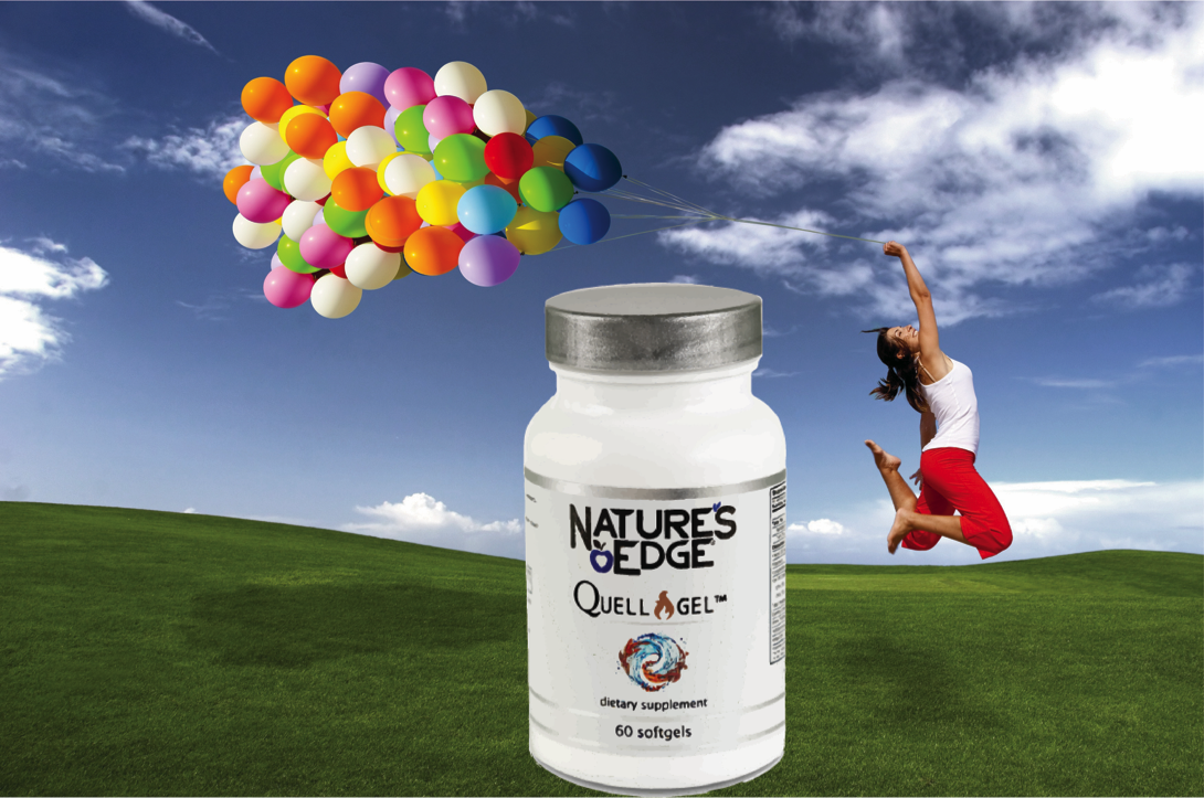 Nature's Edge® Quell-Gel™  uses a synergistic combination of powerful,  clinically tested ingredients  carefully chosen from land and sea to assist the body in  reducing inflammation.