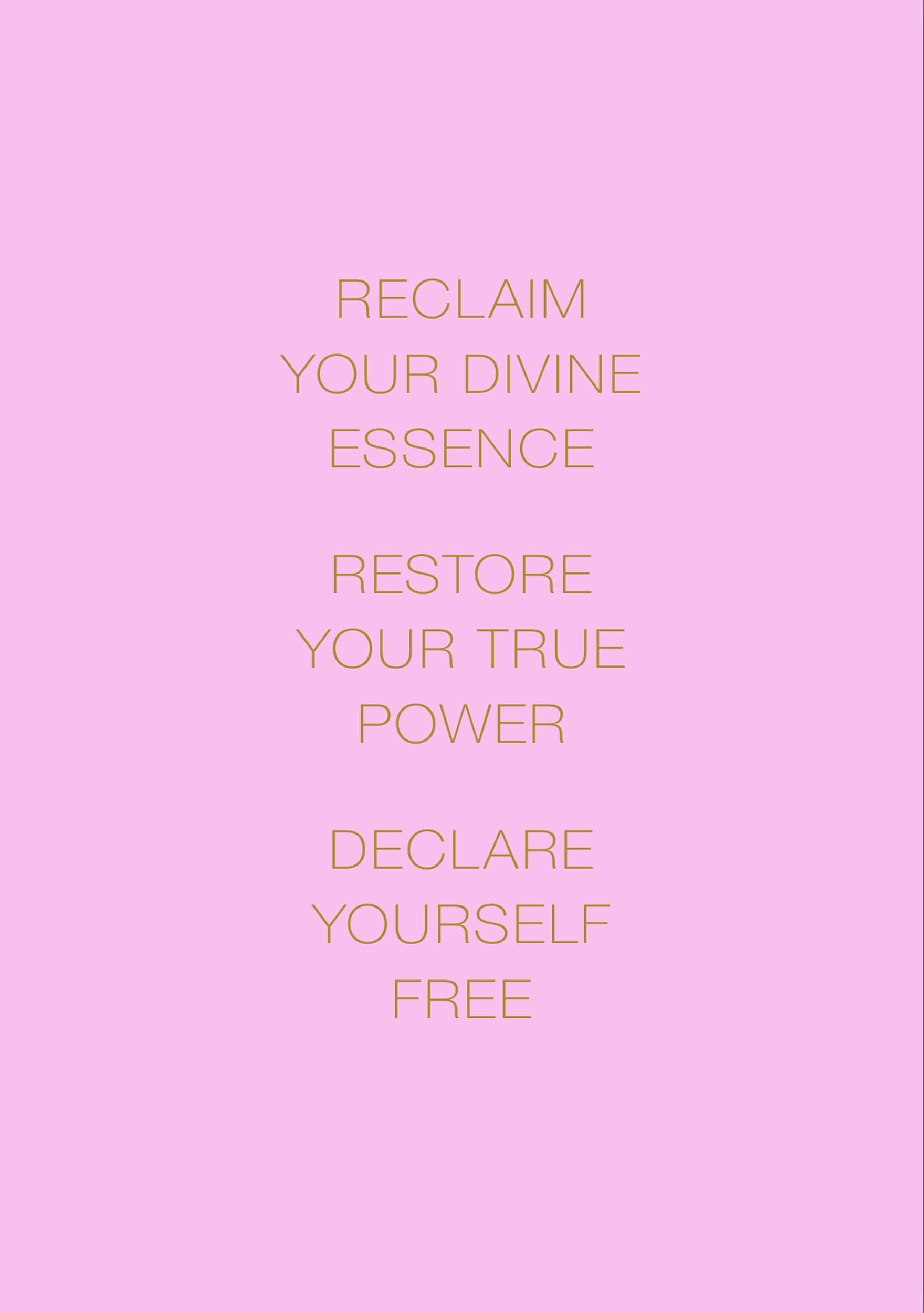 Liberation Mantra: Reclaim Your Divine Essence,Restore Your True Power,Declare Yourself Free