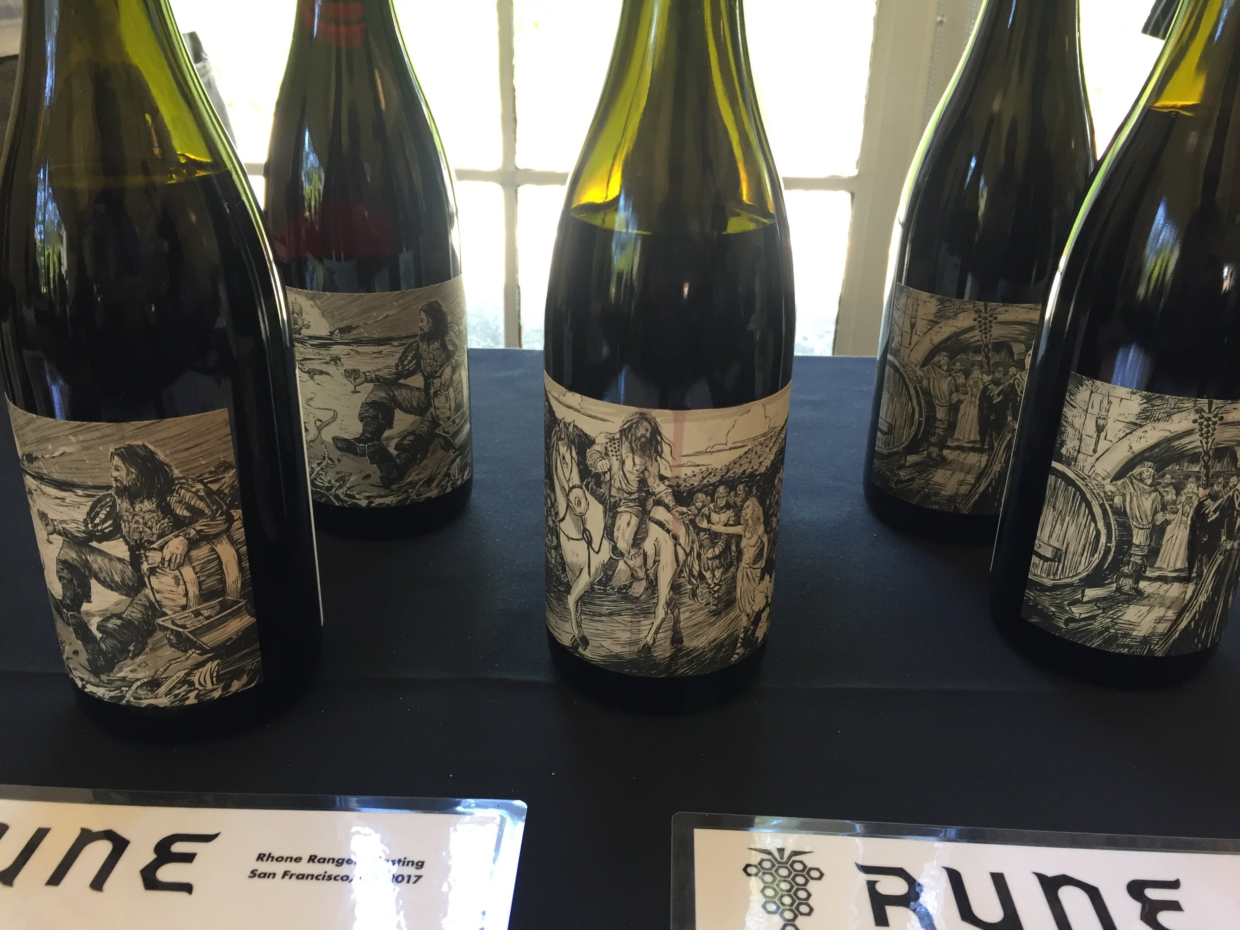 Rune wines from Arizona, with labels by a local graphic artist