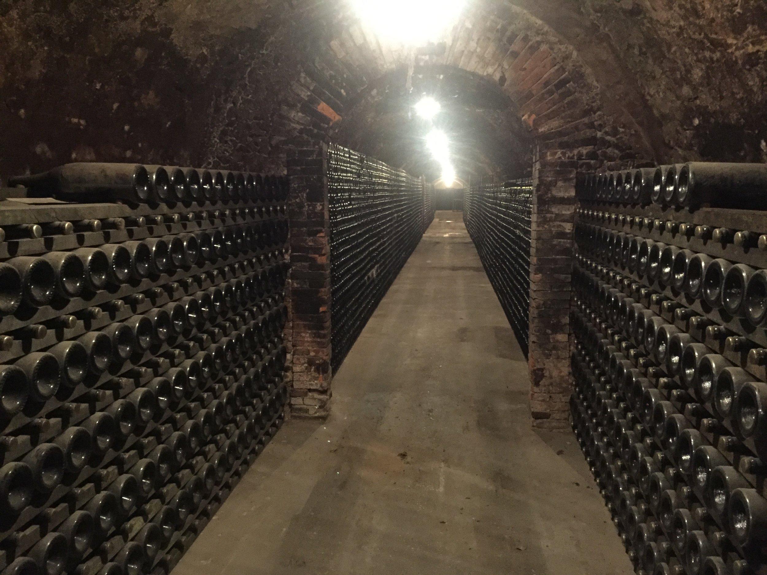 underground cellar at Gaston Chicquet