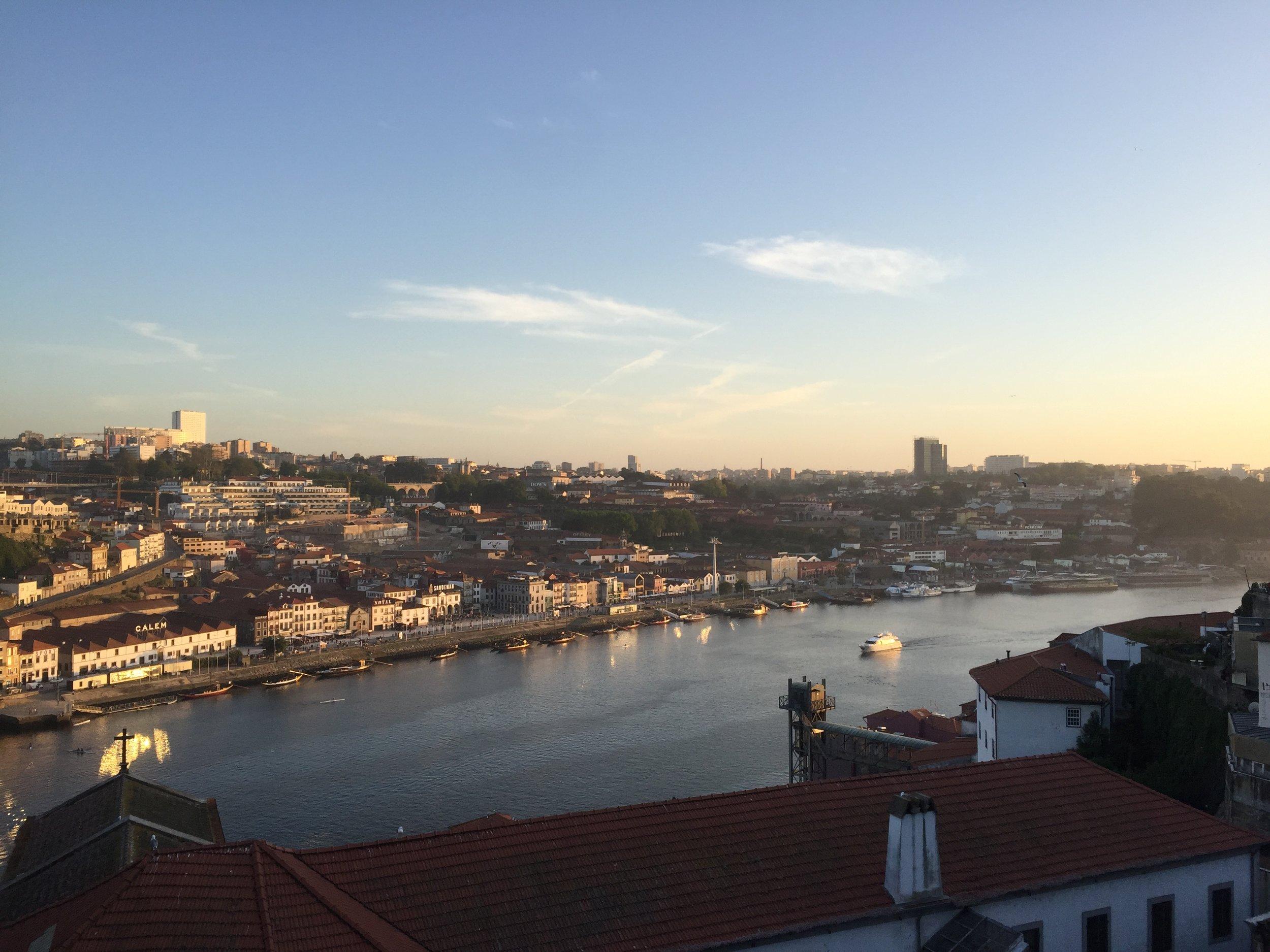 view of Vila Nova da Gaia from Porto
