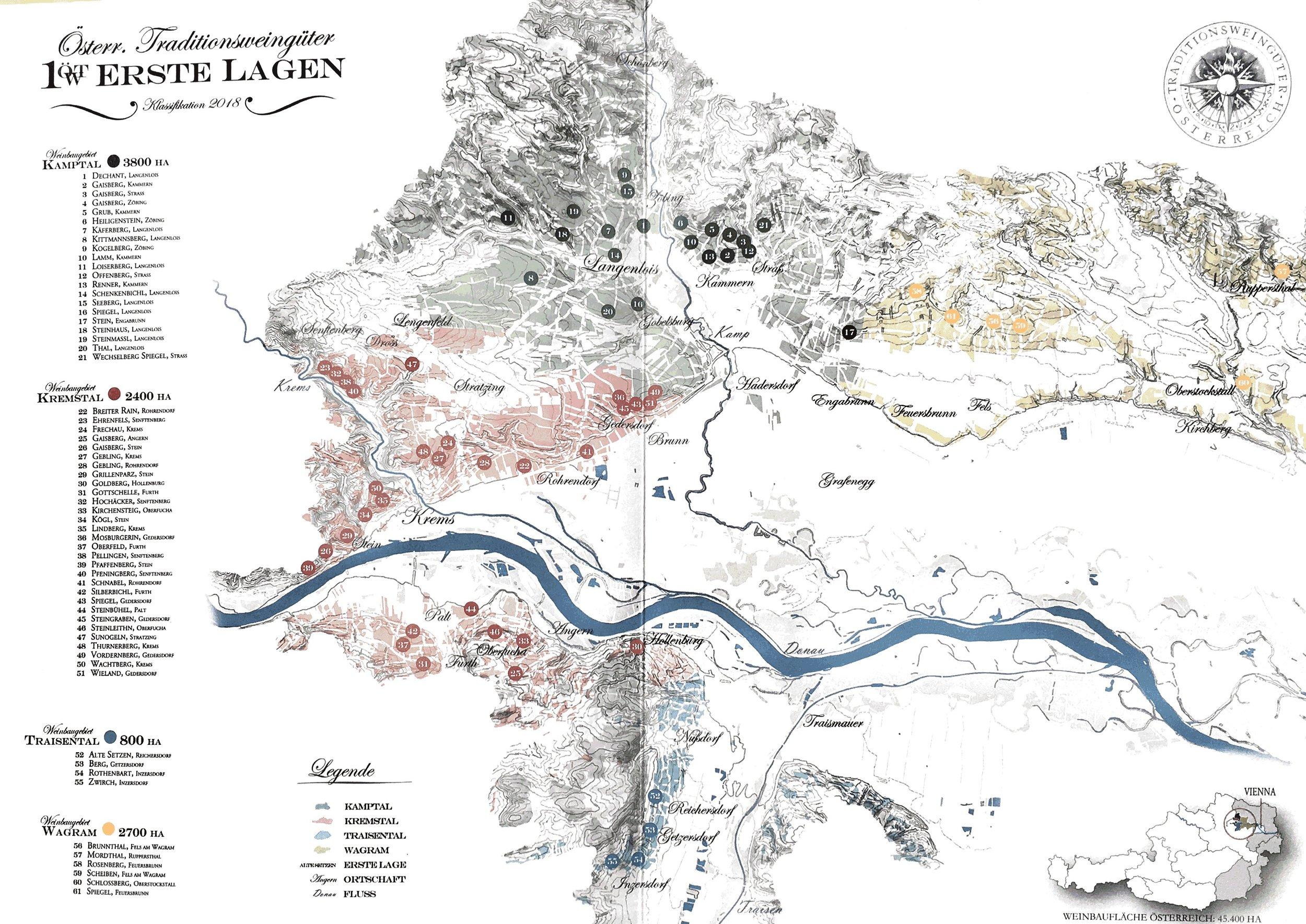 Erste Lage of Kremstal and Kamptal