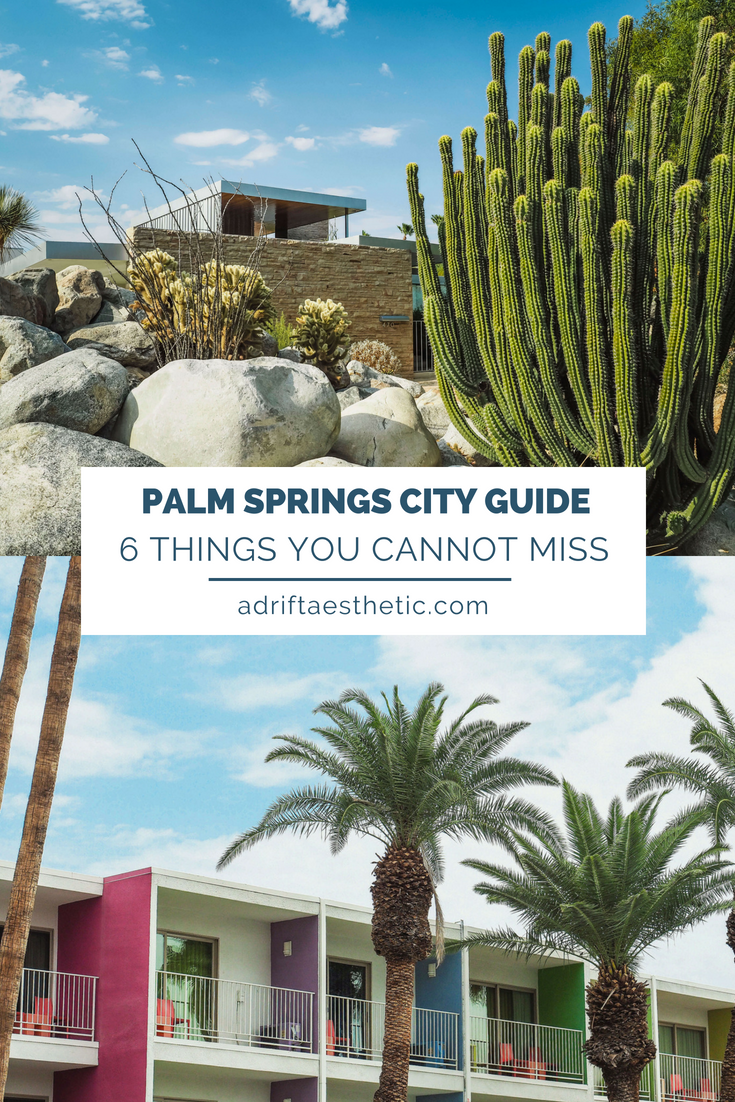 The bright colors and desert vibes of Palm Springs are perfect for a relaxing vacation. Learn more about where to stay and how to experience the city and have a blast despite the heat. #palmsprings #california #cityguide #travel