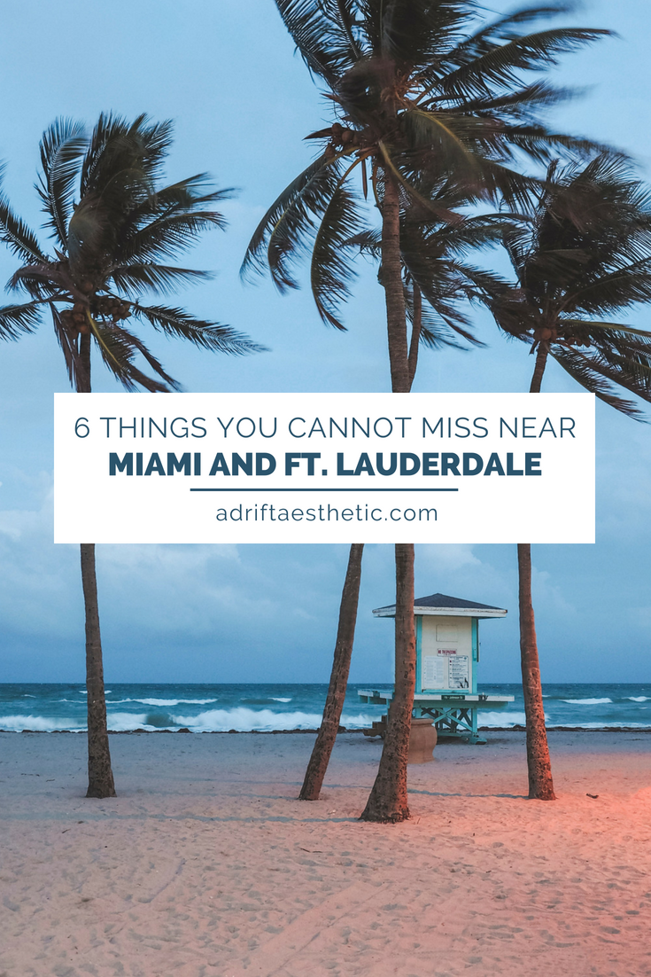 Miami may have a reputation but there's so much to explore around the city and nearby Ft. Lauderdale that doesn't have the South beach vibe. Check out gators, go snorkeling, have the freshest smoothie of your life or be surrounded by street art! #miami #ftlauderdale #florida #travel