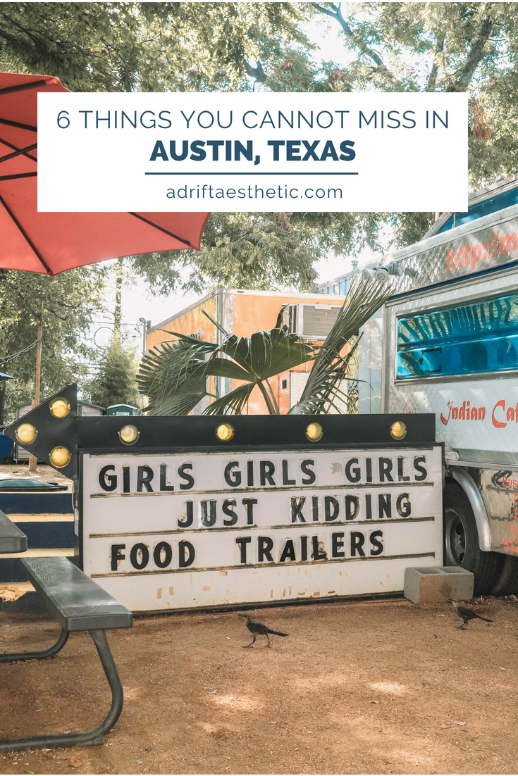 "There's a reason why people want to ""Keep Austin Weird"". The city of Austin, Texas is an eclectic mix of art, food, culture and fun. Plus there are so many outdoor activities right within the city limits! Plan your trip with the 6 things you cannot miss in Austin! #austin #texas #travel #cityguide"